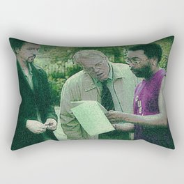 A Script For Ed & Philip By A Spike Rectangular Pillow