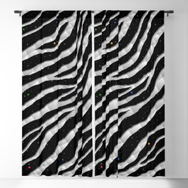 Ripped SpaceTime Stripes - White Blackout Curtain