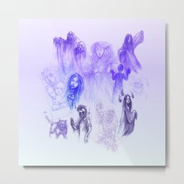 GHOSTS AND GHOULS Metal Print