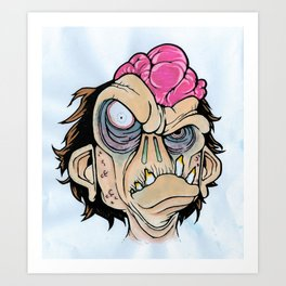 Undead Monkey Art Print