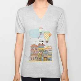 79 Cats in Harbor City Unisex V-Neck