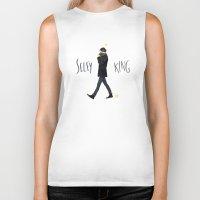ezra koenig Biker Tanks featuring Selfy king by Galaxyspeaking
