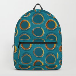 Solar Eclipse MCM Gold-Blue Backpack