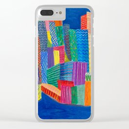 Blue Bluedlings Clear iPhone Case