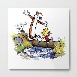 calvin and hobbes adventure Metal Print