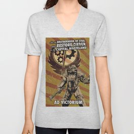 Fallout 3 - Brotherhood of Steel recruitment flyer Unisex V-Neck