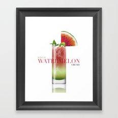 Kiwi and Watermelon crush Framed Art Print