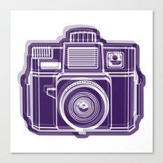 I Still Shoot Film Holga Logo - Deep Purple Canvas Print