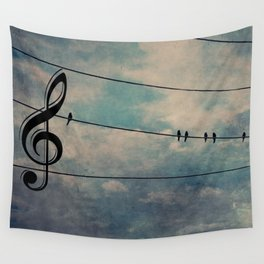 Nature's Choir Birds and Music A611 Wall Tapestry