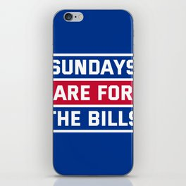 Sundays Are for the bills iPhone Skin