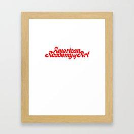 American Academy of Art 1980's Logo. Framed Art Print