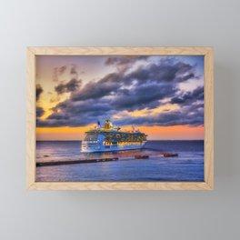 Farewell Cozumel Framed Mini Art Print