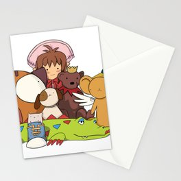 Stuffed Animals (variation) Stationery Cards