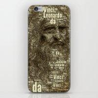 da vinci iPhone & iPod Skins featuring Leonardo da Vinci by AnacondaOnline.eu