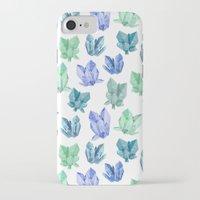 crystals iPhone & iPod Cases featuring Crystals by Marta Olga Klara