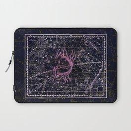 Cancer   Constellation map   Zodiac   Sign sky   Stars   Universe Laptop Sleeve