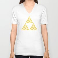 triforce V-neck T-shirts featuring Triforce by Gavin Guidry