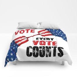 Vote - Every Vote Counts Comforters