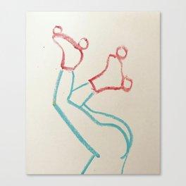 Roller Gal Canvas Print