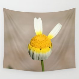 Hippie flower making peace sign Wall Tapestry