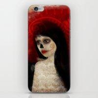 dia de los muertos iPhone & iPod Skins featuring Dia de los muertos by solocosmo