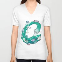 splash V-neck T-shirts featuring Splash! by opertura