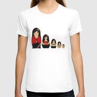 burlesque T-shirts featuring Burlesque Stripper Russian Doll by Yana Elkassova