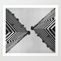 building Art Prints featuring Building by Paula Sprenger