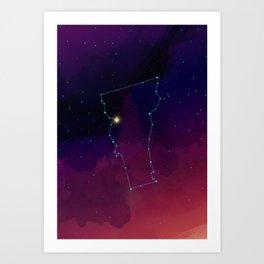 Vermont Constellation Art Print