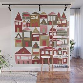 Peppermint Village Wall Mural