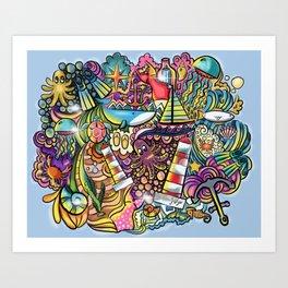 The hyper ocean Art Print