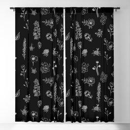 Black Wildflowers S Blackout Curtain