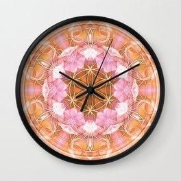 Flower of Life Mandalas 18 Wall Clock