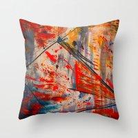 runner Throw Pillows featuring Kite Runner by CMYKulaga