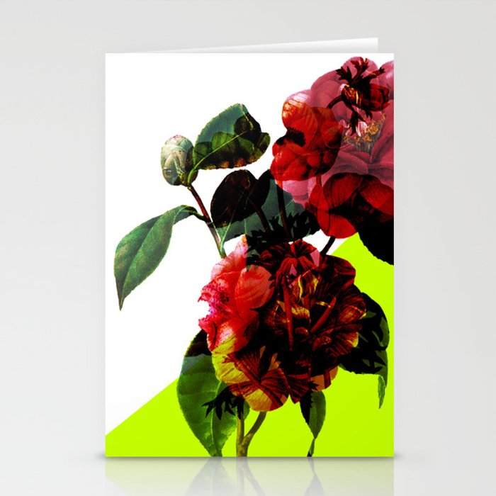 Vintage Blooms /Neon Wedge Stationery Cards