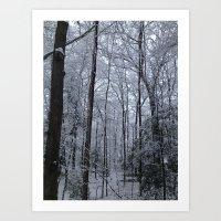 Wooded Winter Wonderland Art Print