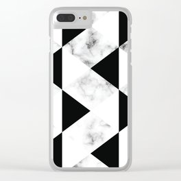 Marble III 048 Clear iPhone Case