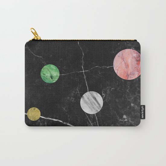 Black Marble with Polka Dots Carry-All Pouch