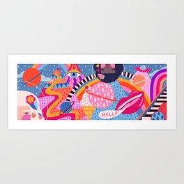 First Contact Art Print