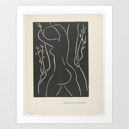 ...She Places Her Cheek There... She Embraces It... by Henri Matisse Art Print