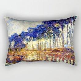 Monet : Poplars on the Banks of the River Epte, 1891 Rectangular Pillow