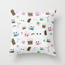 Kawaii Milk  Throw Pillow
