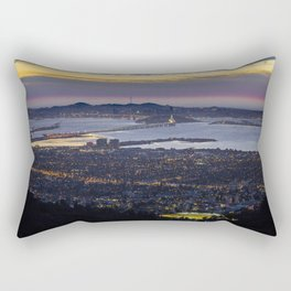 Magic Hour of the SF Bay Area Rectangular Pillow