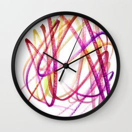Edgy Expressive Marker Warm Colors Abstract Wall Clock