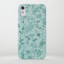 Teal Terrazzo iPhone Case