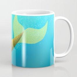 Underwater Swimming Mermaid Fins Yellow Coffee Mug