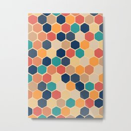 Hexagons (Autumn Palette) Metal Print