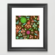 Bright Floral Fantasy Framed Art Print