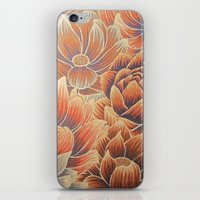 lotus flower iPhone & iPod Skins featuring Lotus by Jess Moore