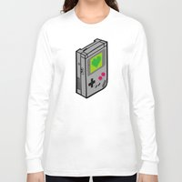 gameboy Long Sleeve T-shirts featuring Gameboy Love by Artistic Dyslexia